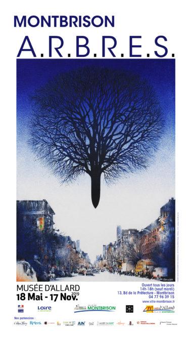 affiche de l'exposition arbres