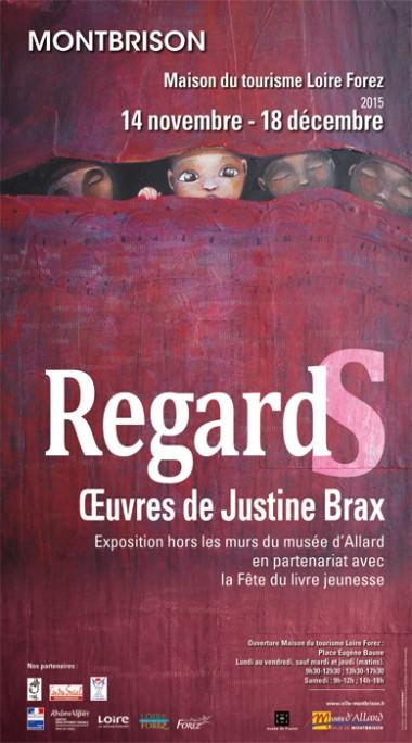 Affiche exposition Justine Brax