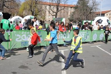 Les petits matchs de street foot entre centres de loisirs ont été très disputés.