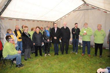 Les membres de cette associations de caravaniers et camping-caristes ont été accueillis par les élus de la Ville de Montbrison (image MN Paliard/ Ville de Montbrison)