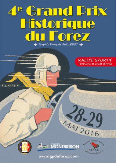 L'affiche du Grand prix historique du Forez 2016 (image DR)