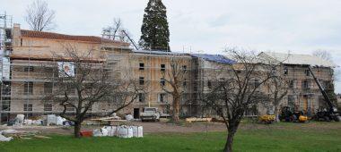 Le site de Sainte-Eugénie à Moingt en cours de réhabilitation (image Ville de Montbrison/MN Paliard).