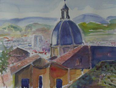 Les Pot'Arts, aquarelle de Jean  Garand