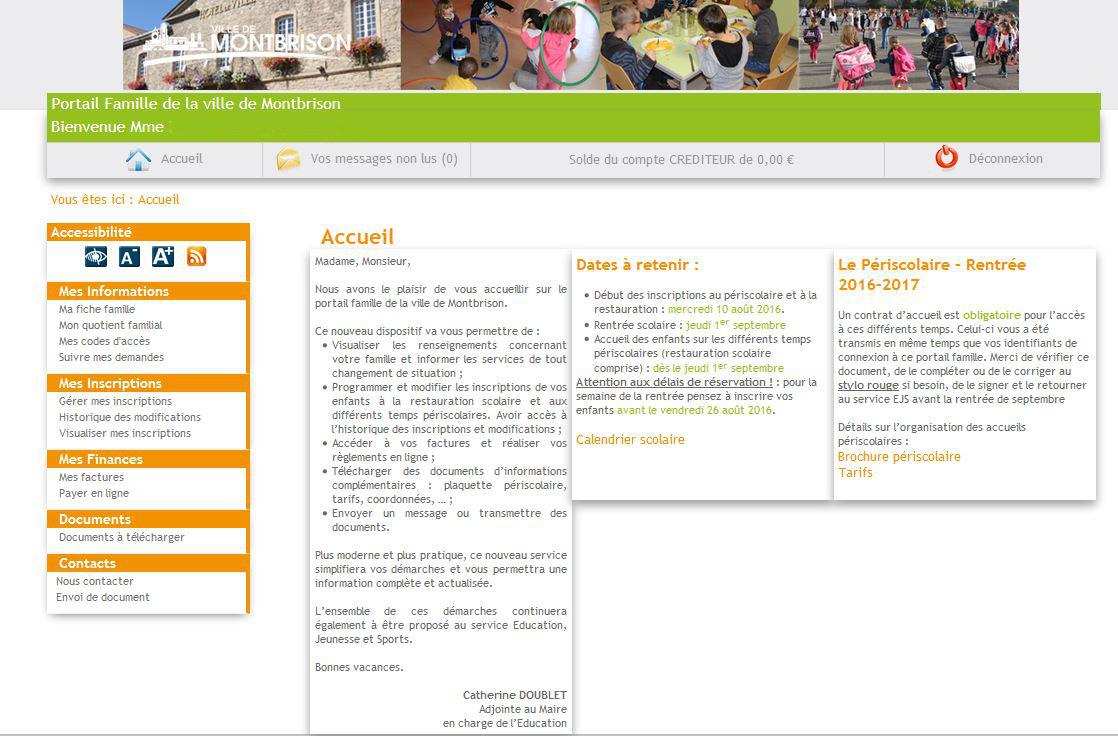 Portail famille et contrat d accueil ville de montbrison - Portail famille valenciennes ...