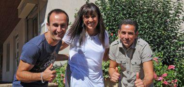 Sébastien Déchaumet, Salima Lasri et Abdel Bentayeb (crédit ville de Montbrison)