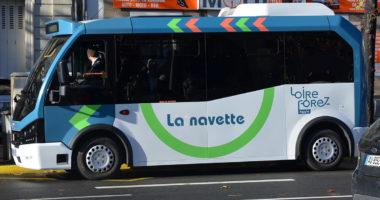 Photo de la navette de transport de Loire Forez agglomération