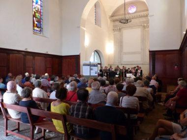 Auditoire concert coeur polyphonique chapelle Sainte Anne