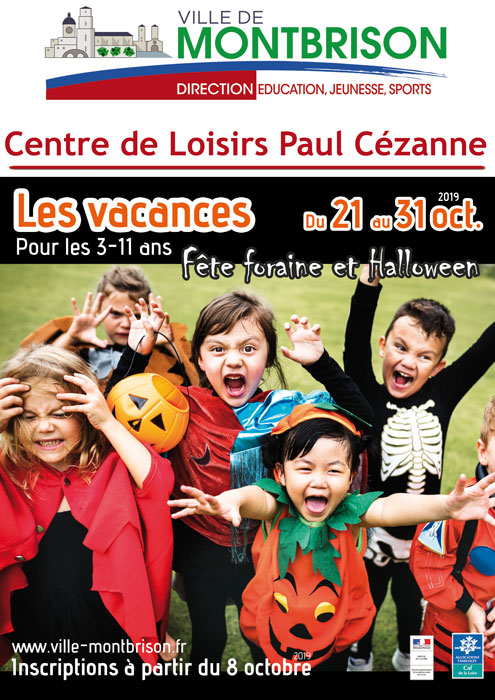 Affiche avec Enfants déguisés pour halloween