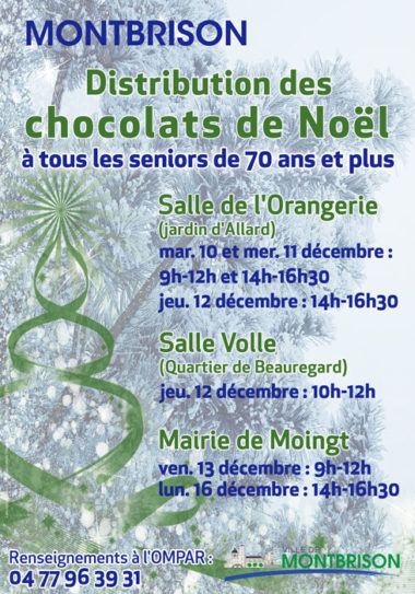 Affiche distribution chocolats seniors