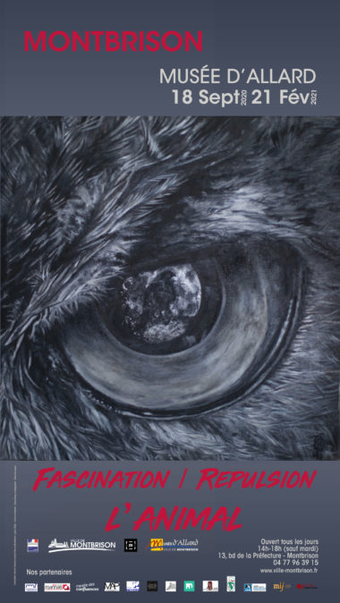 affiche représentant l'oeil d'un animal