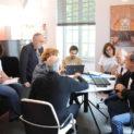 9h : Conférence de rédaction dans les locaux de la mairie.