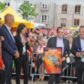 C'est fait ! Christophe Bazile a reçu des mains du maire de Sanary le trophée du plu beau marché de France 2019.