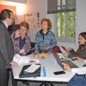 10h15 : Dans le bureau des adjoints transformé en salle de rédaction, calage des interventions de Christophe Bazile.