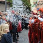 Foule et groupe folklorique fête de la fourme Montbrison 2019