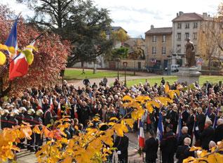 public cérémonie 11 novembre