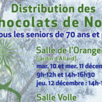 Affiche distribution chocolats seniors