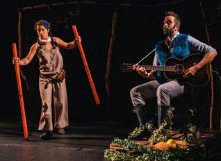photo d'artistes sur scène
