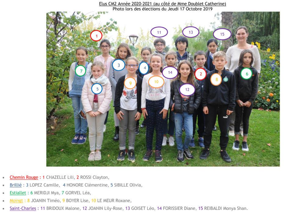 enfants du conseil municipal 2020-2021 CM2