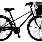 Vélo avec panier sur le guidon