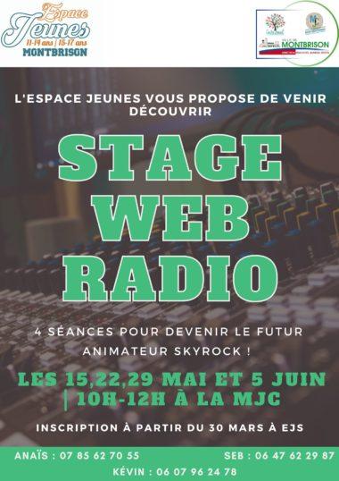 affiche avec texte stage web radio