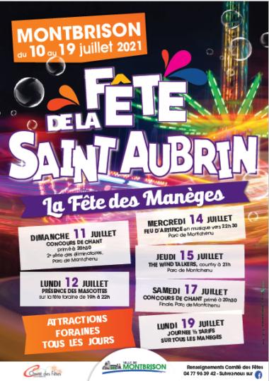 affiche fête foraine saint aubrin